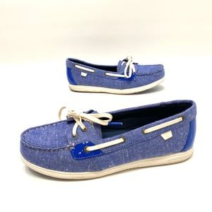 Sperry top sider women blue canvas boat shoe 8.5